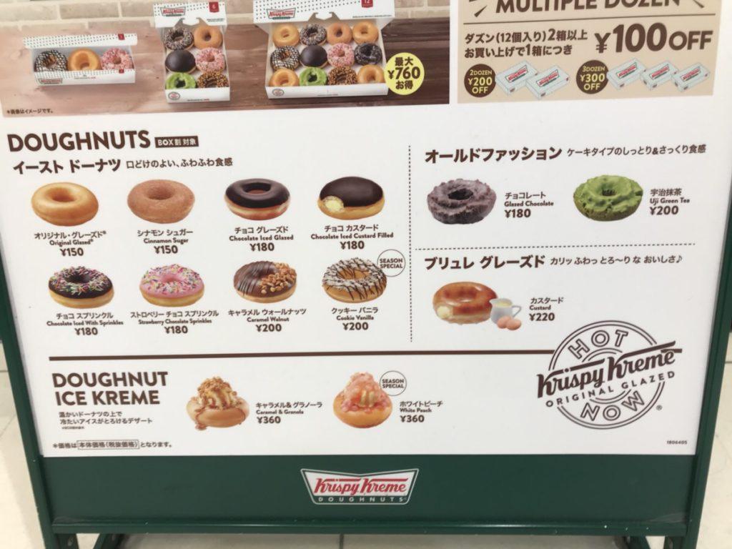 ミスドとクリスピークリームドーナツのカロリーと糖質を比較