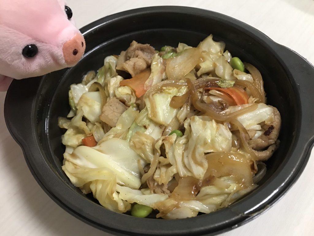 【ほっともっと人気メニュー】第4位 肉野菜炒め弁当